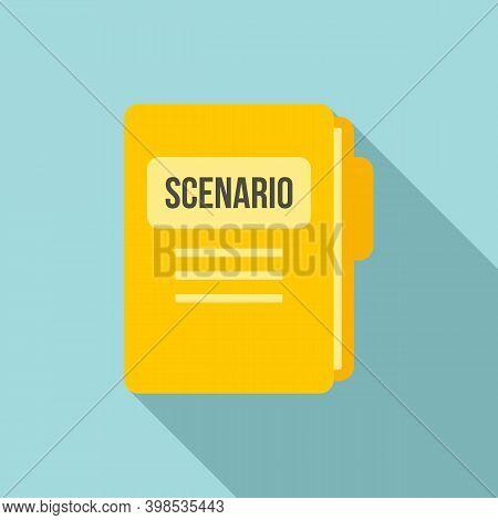 Scenario Folder Icon. Flat Illustration Of Scenario Folder Vector Icon For Web Design