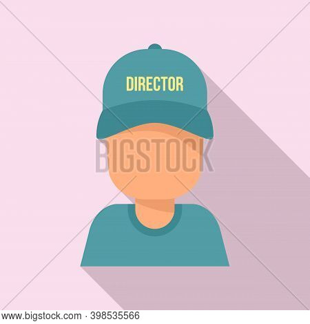 Stage Director Icon. Flat Illustration Of Stage Director Vector Icon For Web Design