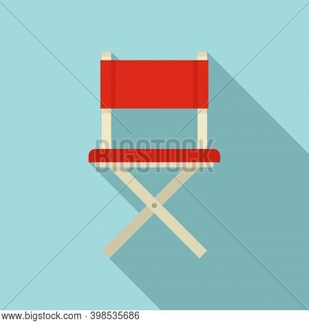Stage Director Chair Icon. Flat Illustration Of Stage Director Chair Vector Icon For Web Design