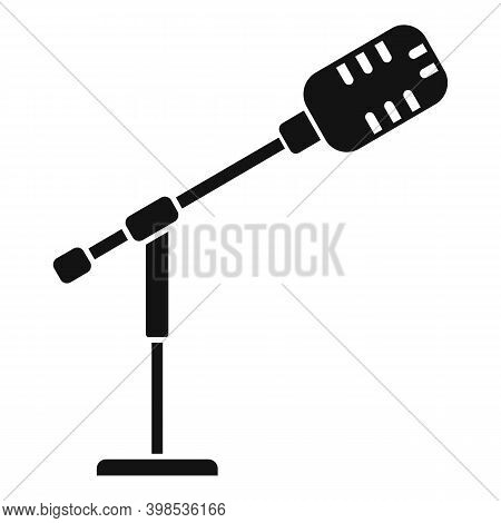 Stage Director Microphone Icon. Simple Illustration Of Stage Director Microphone Vector Icon For Web