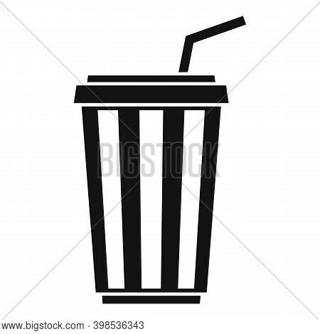 Cinema Soda Drink Cup Icon. Simple Illustration Of Cinema Soda Drink Cup Vector Icon For Web Design