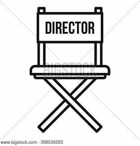 Stage Director Chair Icon. Outline Stage Director Chair Vector Icon For Web Design Isolated On White