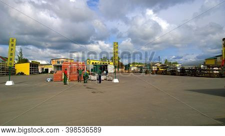 St. Petersburg, Russia - August, 2019: Outdoor Warehouse Of Building Material. Construction Market.