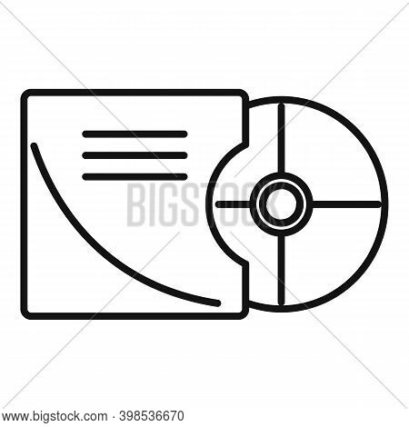 Stage Director Cd Icon. Outline Stage Director Cd Vector Icon For Web Design Isolated On White Backg