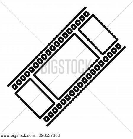 Cinema Film Icon. Outline Cinema Film Vector Icon For Web Design Isolated On White Background