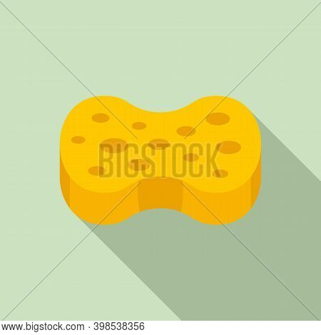 Cleaning Sponge Icon. Flat Illustration Of Cleaning Sponge Vector Icon For Web Design