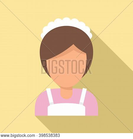 Cleaning Maid Woman Icon. Flat Illustration Of Cleaning Maid Woman Vector Icon For Web Design