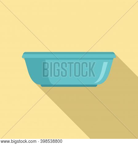 Cleaning Basin Icon. Flat Illustration Of Cleaning Basin Vector Icon For Web Design