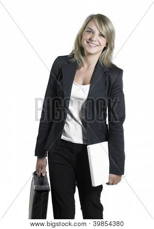 Young Blond Business Woman