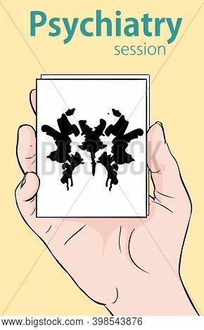 Vector  Illustration Of Rorschach Inkblot Test Random
