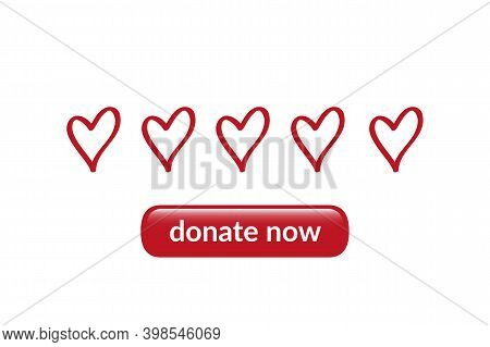 Donate Now Helpfulness Concept Appeal For Donations Vector Illustration Eps10