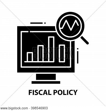 Fiscal Policy Icon, Black Vector Sign With Editable Strokes, Concept Illustration