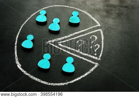 Customer Segmentation And Targeting With Empty Segment. Small Figurines.