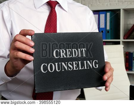 Credit Counseling Words On The Black Plate.