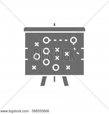 Football Game Plan Scheme, Tactic Grey Icon.