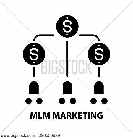 Mlm Marketing Symbol Icon, Black Vector Sign With Editable Strokes, Concept Illustration