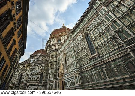 Florence, Italy - October 11, 2011: Cathedral Of Santa Maria Del Fiore (basilica Of Saint Mary Of Th