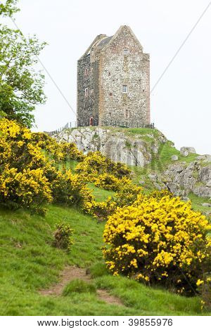Smailholm Tower near Kelso, Scottish Borders, Scotland