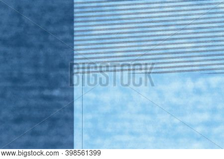 Abstract Geometric Graphic Blue Background With Textured Parts Formed By A Computer Malfunction