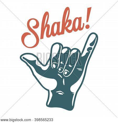 Print Of Surfer Hawaii Gesture Shaka Or Aloha