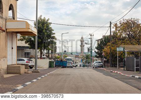 Nazareth, Israel, December 05, 2020 : The Central Street In The Muslim Circassian - Adyghe Village K