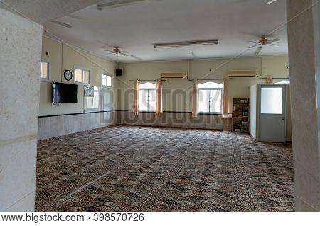 Nazareth, Israel, December 05, 2020 : The Prayer Hall On The Second Floor In The Mosque Building In