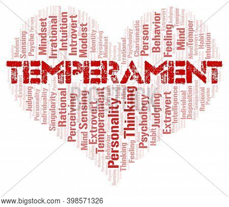 Temperament Typography Word Cloud Create With Text Only.