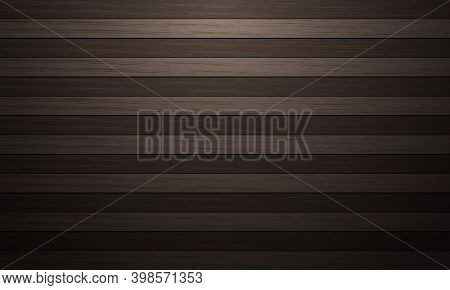Brown Wood Two Tone Board Pattern With Dim Light Vector Background Texture Vector Illustration.