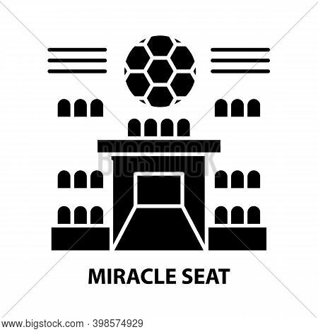 Miracle Seat Icon, Black Vector Sign With Editable Strokes, Concept Illustration