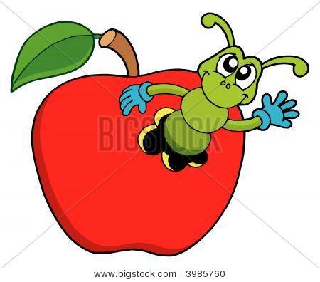 Cute_Worm_In_Apple