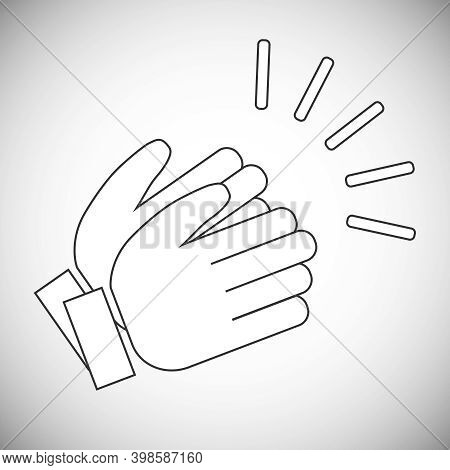 Applause, Applause Icon Isolated On White Background. Vector, Cartoon Illustration. Vector.