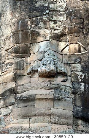face in sandstone