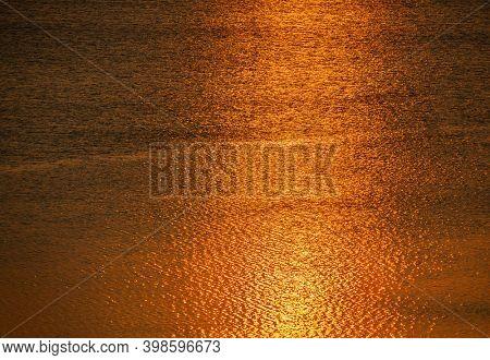 Orange Sunset On The Sea