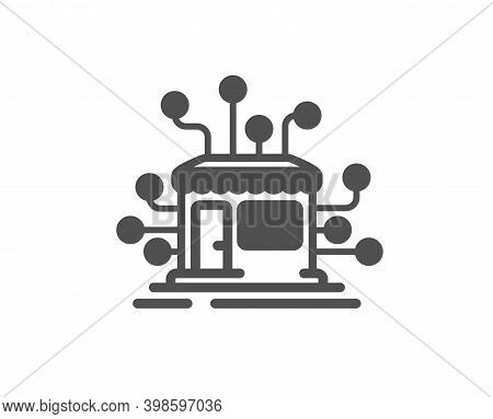 Distribution Network Icon. Market Store Sign. Marketplace Warehouse Symbol. Quality Design Element.