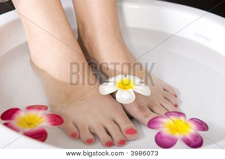 Lady Having Pedicure