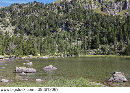 Ratera Lake In The Morning At Summer.