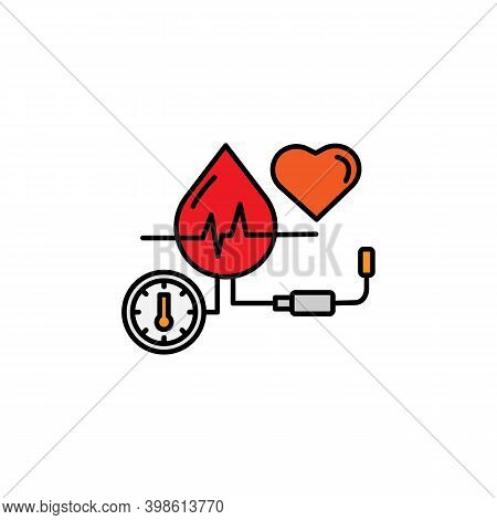 Blood Line Icon. Signs And Symbols Can Be Used For Web, Logo, Mobile App, Ui, Ux