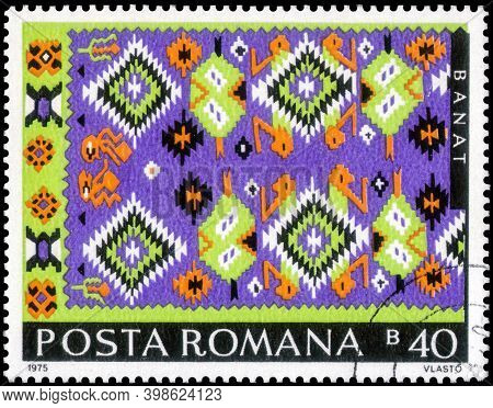 Saint Petersburg, Russia - September 27, 2020: Postage Stamp Issued In The Romania With The Banat Ca