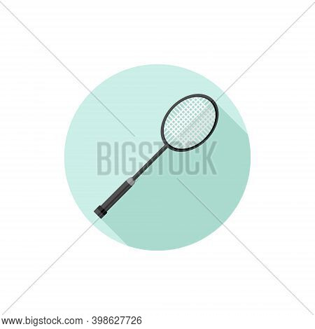 Flat Design Badminton Racket. Vector Illustration Simple