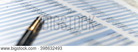 Income Statement In Stockholder Report Book. Accounting And Financial Report Analysis.