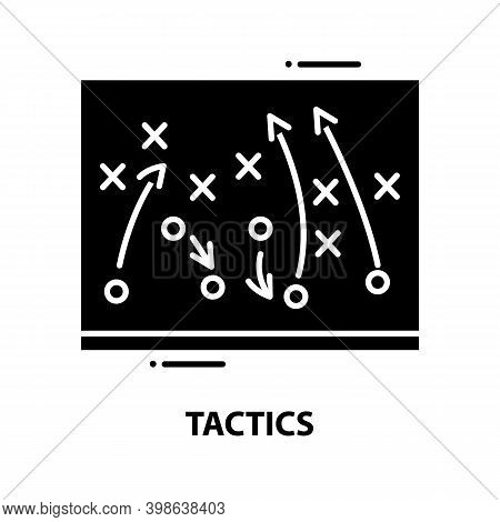 Tactics Icon, Black Vector Sign With Editable Strokes, Concept Illustration