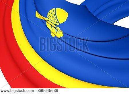 3d Flag Of Waalre (north Brabant), Netherlands. 3d Illustration.
