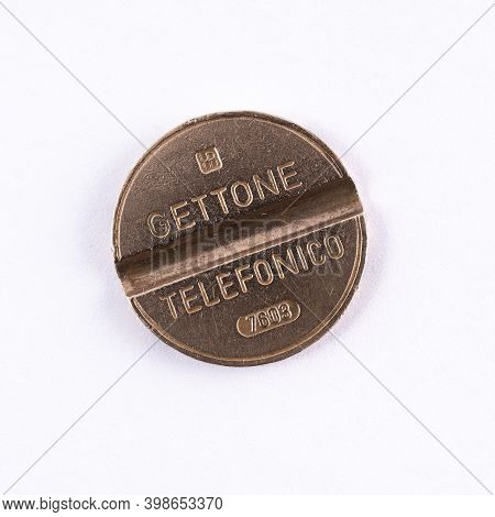 An Old Telephone Token For Italian Public Telephones