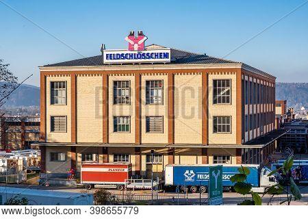 Rheinfelden, Switzerland - November 25, 2020: Rheinfelden, Switzerland - November 25, 2020: Feldschl