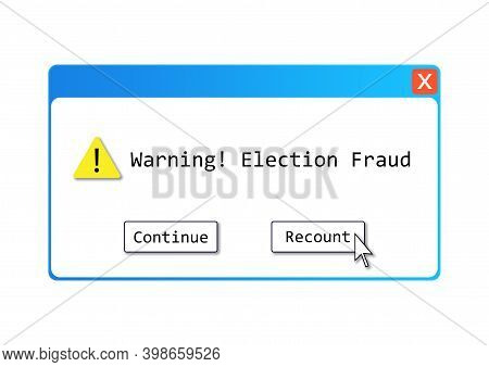 An Election Fraud Text Illustration About The Alleged Election Controversy Regarding Computer System