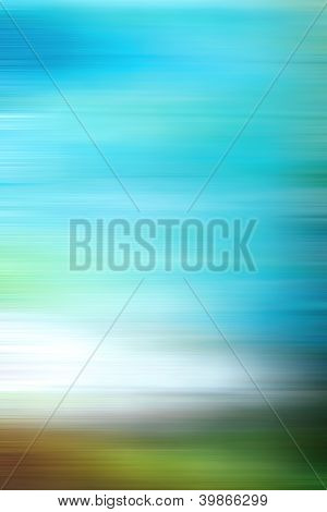 Abstract Textured Background: White, Brown, And Green Patterns On Blue Sky-like Backdrop