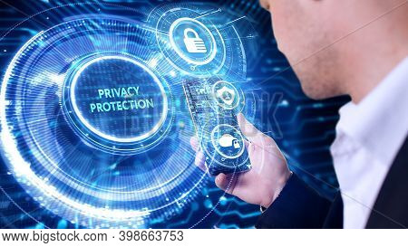 Cyber Security Data Protection Business Technology Privacy Concept. Privacy Protection