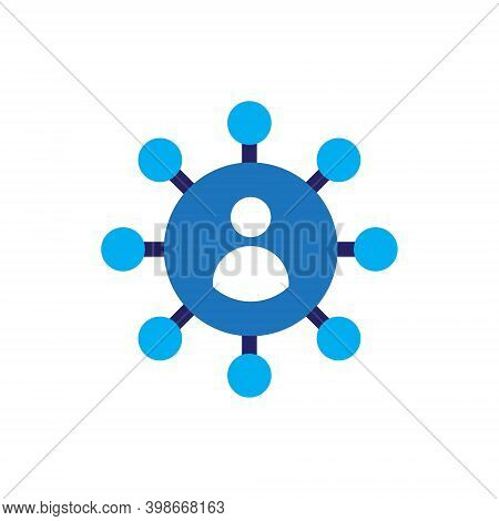 People Network Social Connection Icon Vector Isolated On White Background. Multiple Sharing Business