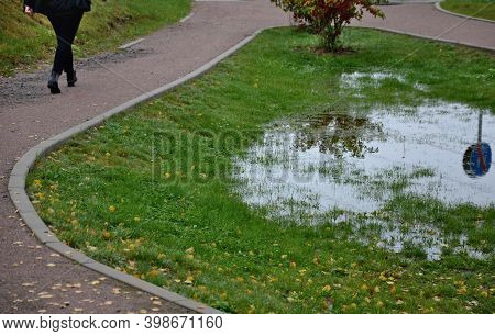 Too Compact And Impermeable Soil Does Not Absorb Water During Rains And Floods. A Lake Was Created I