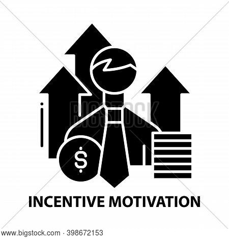Incentive Motivation Icon, Black Vector Sign With Editable Strokes, Concept Illustration